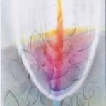 ´Kelch des Heils` (Pastelldrucktechnik, Din A4)