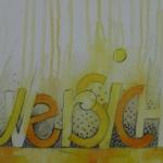 `Zuversicht`, Acrylmischtechnik Din A4 ( auch als Karte erhältlich)