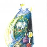 ´Der gute Hirte` (Mischtechnik, Din A4) auch als Karte erhältlich