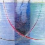 `Petrus steigt aus den Boot` Pastellkreide/ Gold 30x 40cm)