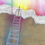 `Ich glaube, hilf meinem Unglauben 4`, (Pastellkreide/ Collage, Din A4)