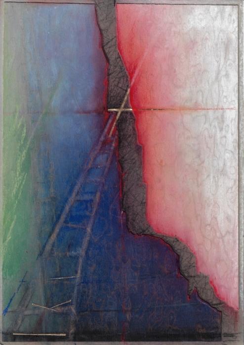 `Ich glaube, hilf meinem Unglauben 3`, ( Pastellkreide auf Holz Din A4) auch als Karte erhältlich