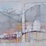 `Erinnerung `, Mischtechnik, 80x60 cm Leinwand
