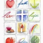 'faith love hope' 25x33cm